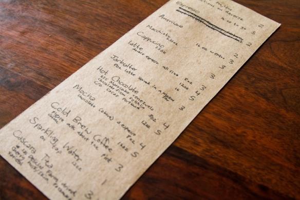 courier menu